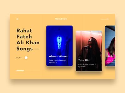 Music header exploration | Web Design branding layout ecommerce vector webdesign interface webdeisgn music concept flat ux landing app page minimal product design website web ui
