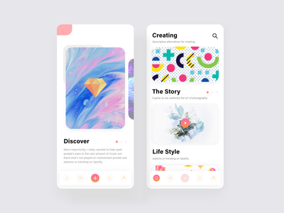 Conceptual Blog UI web layout blog mockup template freebie iphone x material icons colorful saas landing page blockchain b2b b2c article cryptocurrency wallet illustration vector kit typography graphic design popular trending new trend user experience ux user interface ui android ios app