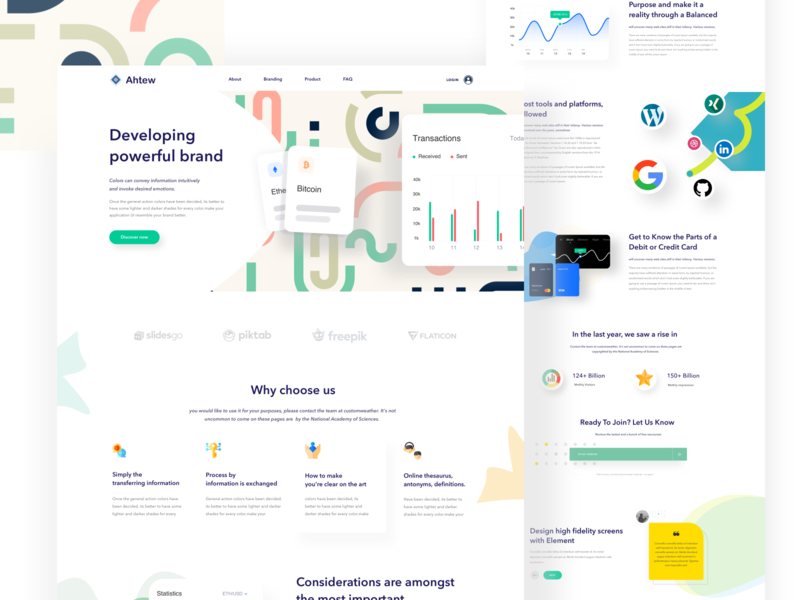 Branding Website #Visual_Exploration page concept web landing page interface typography layout ux design illustrations user statistics homepage ui interface icon kit experience pricing support email form agency service domain hosting b2b saas sass b2c android ios app dashboard webdesign landing web website minimal
