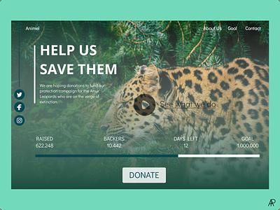 Crowdfunding Campaign leopard crowdfunding userinterface figma dailyuichallenge dailyui web app ui design