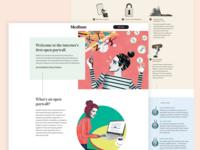 Medium Creators Landing Page