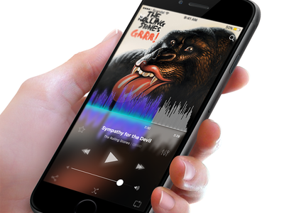 Music Player sketch frosted glass music player free ios