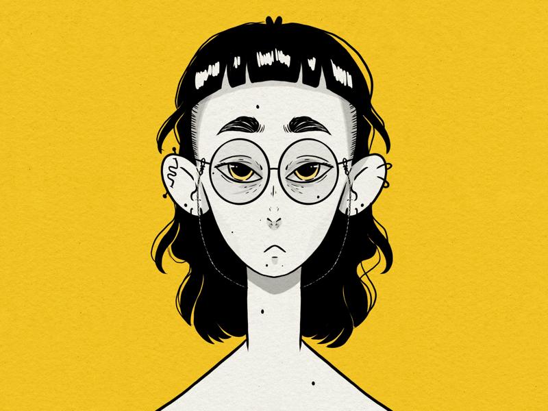 Self Portrait character portrait digital procreate illustration