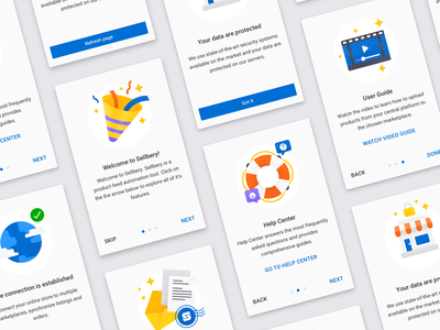 Sellbery Cards Illustration web design colorful onboarding marketplace ecommence noise gain flat cards card cards ui ui illustration