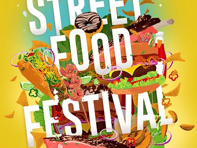 Street Food Festival (2017) poster art illustration handdrawn key visual