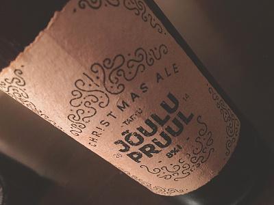 Christmas ale packaging label beer