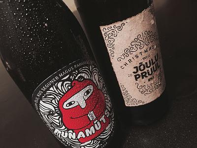 Craft beer packaging label beer