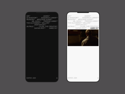 031721—001 A typogaphy type concept simple music art video music minimal ui iphone web mobile ui design