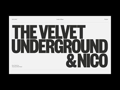 Velvet 1967 grafic design concept visual art visual design print identity web music type typeface typography editorial design editorial