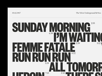 Velvet 1967 graphic design concept visual art visual design print identity web music type typeface typography editorial design editorial