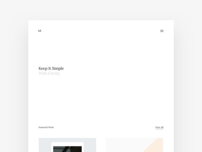 New Portfolio Site minimalist minimal simple white projects website web site portfolio