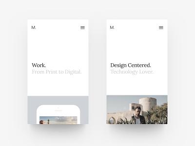 New Portfolio Site - Mobile mobile white website web site simple projects portfolio minimalist minimal