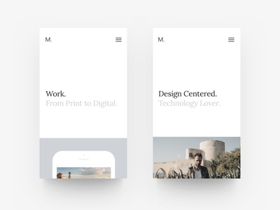 New Portfolio Site - Mobile mobile white website web site simple projects portfolio minimalist minimal