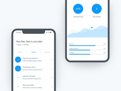 Score Screen - App minimal simple product design ui design mobile app mobile ios iphone x iphone
