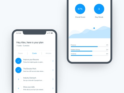 Score Screen - App minimal simple product design ui design mobile app mobile ios iphone x iphone