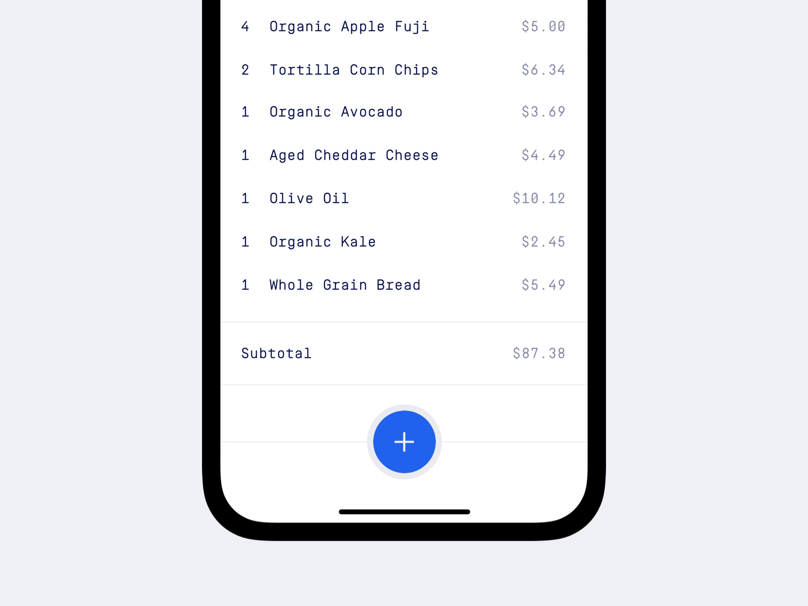 Receipts app
