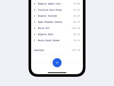 Receipts App minimal product design ui design mobile app mobile ios iphone x iphone