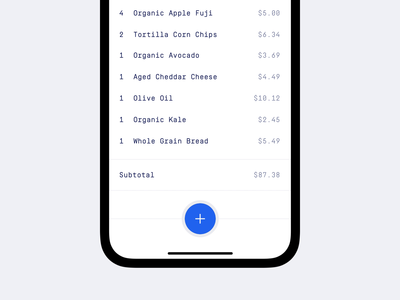 Receipts App minimal product design ui design mobile app mobile ios iphone x iphone