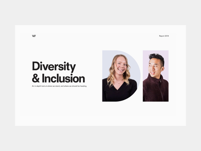 D&I Report design team photography report web inclusion diversity