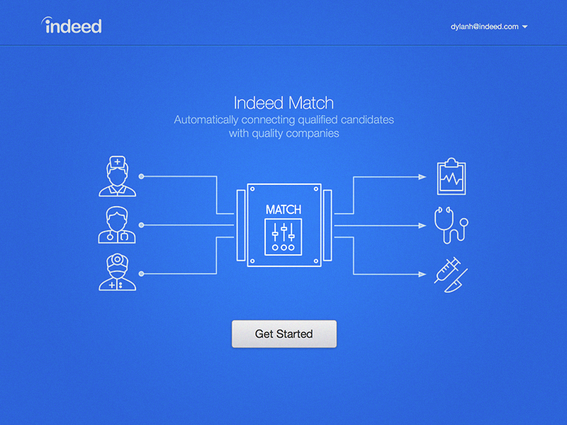 Indeed Match marketing splash indeed