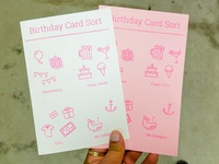 Birthday Card Sort