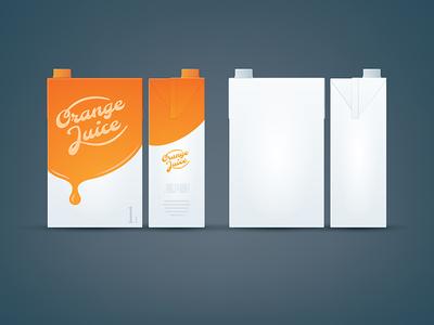Orange / White Carton box mock-up