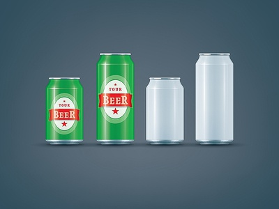 White Can / Beer can mock-up