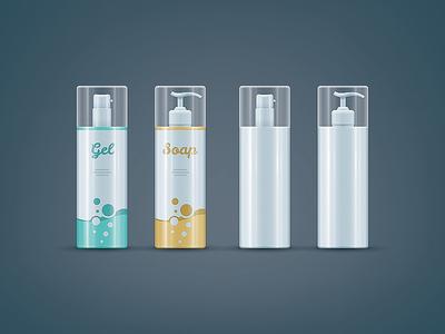 Soap / Gel bottles mock-up set