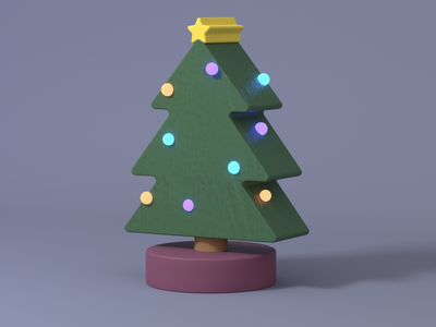 Christmas Tree concept lopoly3d lowpoly illust illustrator motion c4d modeling 3d christmas tree christmas