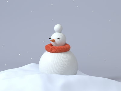 Snowman c4d 3d branding design illustration illust animation motion snowflake winter snow snowman