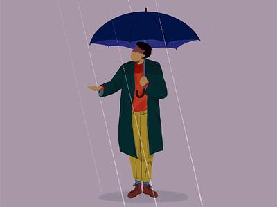 Rainyday fashion art illustration art illustration fashion umbrella rain