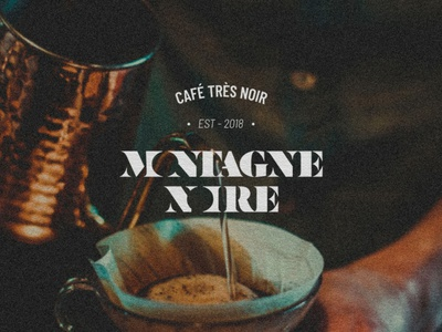Montagne Noire : Brand Identity font morning french stencil typography cafe logo cafe graphiste graphisme graphism drink logotype logo coffee