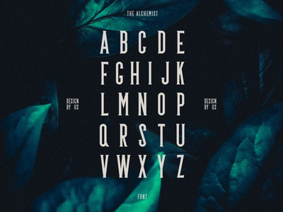 THE ALCHEMIST : typography graphicdesign graphiste graphism graphisme design typefaces typeface font enigma mystery typography