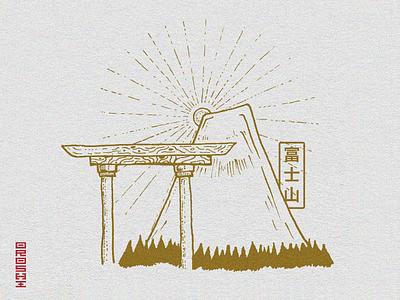 FUJISAN - Illustration for clothing brand inspired by Japan icon design japan vector art illustration logo graphicdesign graphism graphiste graphisme