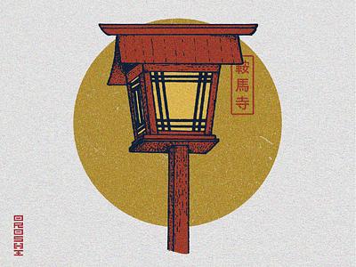 KURAMA-DERA - Illustration for clothing brand inspired by Japan japan icon art vector illustration design graphicdesign graphism graphiste graphisme