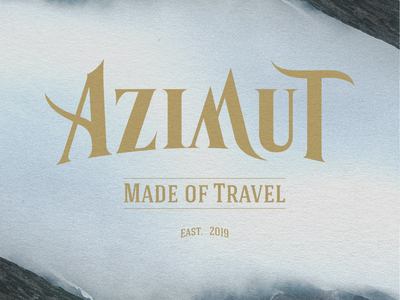 AZIMUT - Made of Travel ready-to-wear graphic design vector japan branding logo design illustration graphicdesign graphism graphiste graphisme
