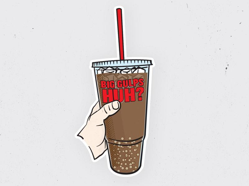 Big Gulps Huh? seveneleven 711 dumb and dumber illustration diet coke coke big gulp soda big drink
