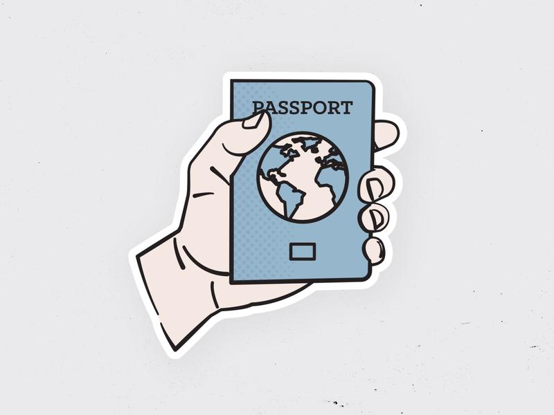 Got My Passport Ready To Go hand illustration adventure globe documents travel passport