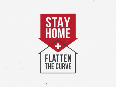 Stay Home and Flatten the Curve icon home stay home flatten the curve