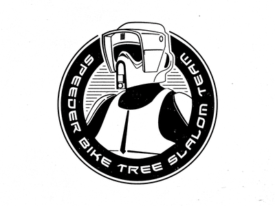 Speeder Bike Tree Slalom Team star wars logo the empire strikes back scout trooper storm trooper