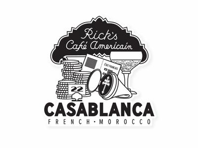 Casablanca - Rick's Cafe Americain classic bogart french morocco morocco movies casablanca