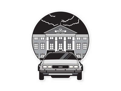 Back To The Future - Part 1 hill valley time travel delorean clock tower bttf back to the future backtothefuture