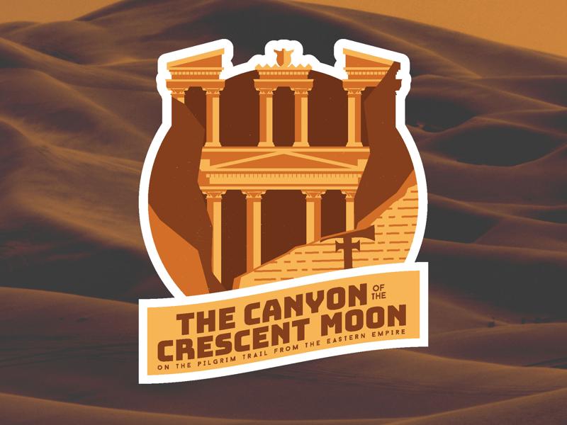 The Canyon of the Crescent Moon (or Petra) last crusade travel indiana jones petra badge