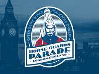 Horse Guards Parade Luggage Sticker