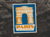 Paris luggage label