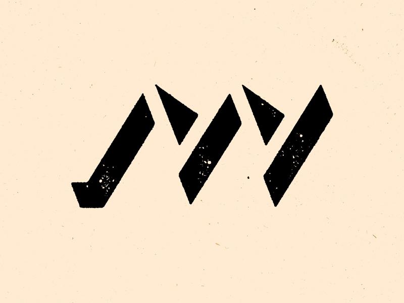 Negative M and V monogram exploration logo negative space typography type monogram