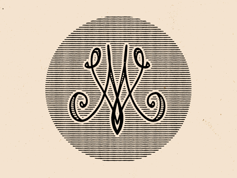 Old school m and v monogram exploration typography type logo monogram