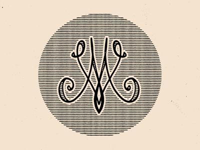 Old school m and v monogram exploration typography type logo monogram