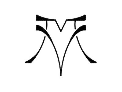 More m and v monogram exploration procreate typography type logo monogram