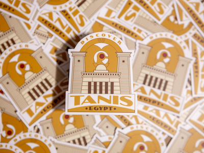Indiana Jones and the Raiders of the Lost Ark - Tanis Badge raiders sticker label luggage vintage tanis indiana jones